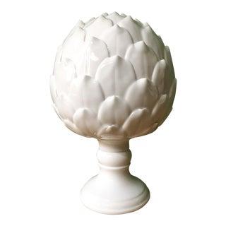 White Porcelain Artichoke Sculpture For Sale