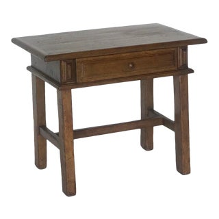 Custom Walnut Side Table or Nightstand With Drawer For Sale