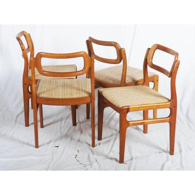 Uldum Møbelfabrik Danish Teak Chairs by Uldum Møbelfabrik, 1960s - Set of 4 For Sale - Image 4 of 11