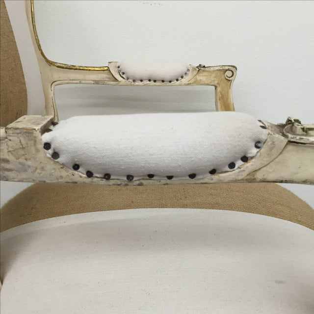 Vintage Louis XV Style Armchairs - Pair - Image 11 of 11