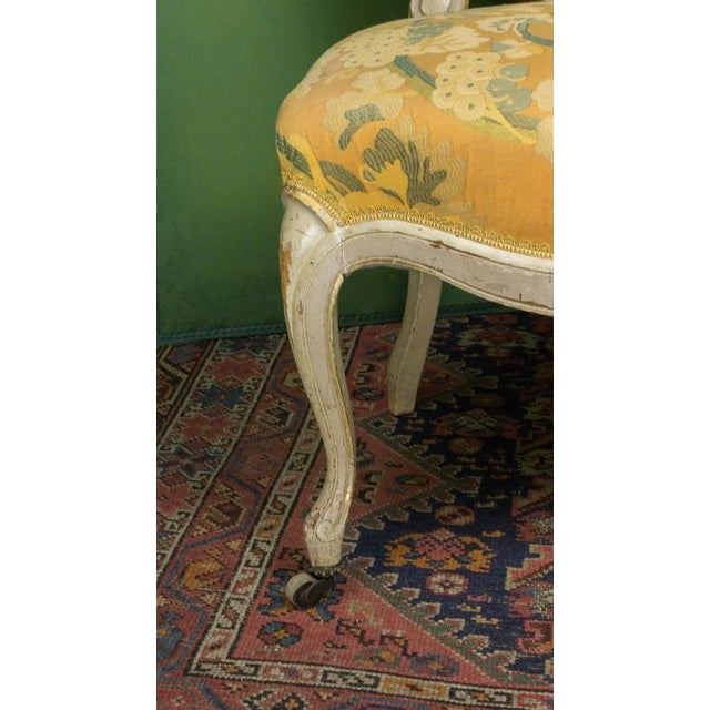 Textile Pair of Louis XV Style Side Chairs For Sale - Image 7 of 11