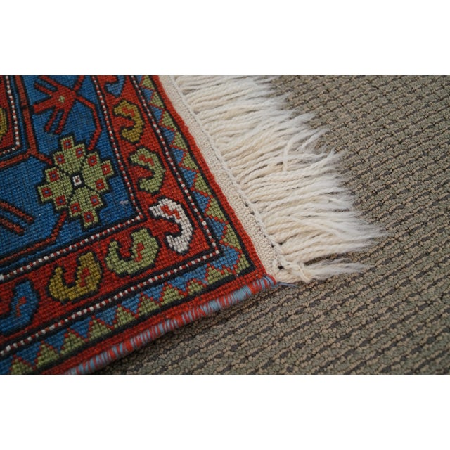 Quality Hand Tied Caucasian Rug - 3′7″ × 5′6″ For Sale - Image 10 of 10