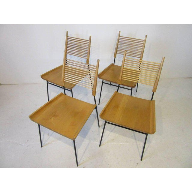 Brown Paul McCobb Shovel Seat Dining Chairs from the Planner Group - set of 4 For Sale - Image 8 of 8