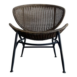 Wicker Accent Chair For Sale