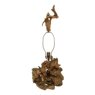 Mid Century Driftwood Grapevine Lamp For Sale