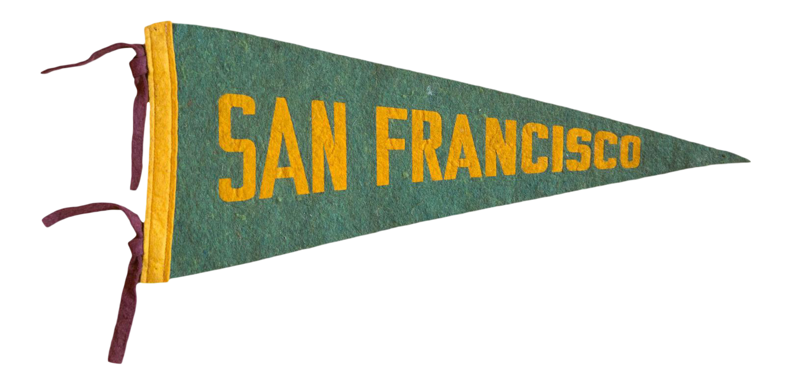 High Quality 1940s San Francisco CA Felt Flag