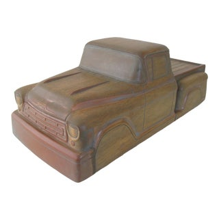 Vintage Wooden Factory Mold for Toy Truck For Sale