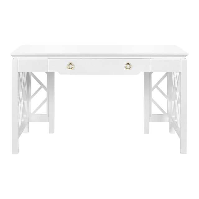 Bungalow 5 modern hollywood regency style white lacquer for Bungalow 5 desk