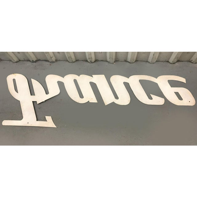 """Mid-Century Modern """"France"""" Signage From Travel Agency For Sale In Atlanta - Image 6 of 9"""