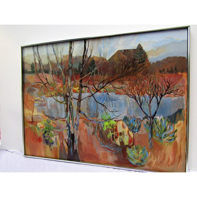 Contemporary 1980s K Byrns Original Landscape Painting For Sale - Image 3 of 5