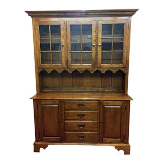 Ethan Allen Country Maple Hutch Cabinet For Sale