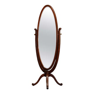 Antique R.J. Horner School Oak Cheval Dressing Mirror, circa 1900 For Sale