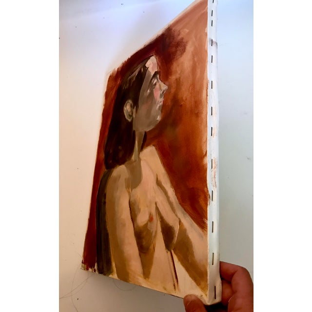 Impressionism Modern Nude Study Oil Painting With Max Ginsburg For Sale - Image 3 of 5