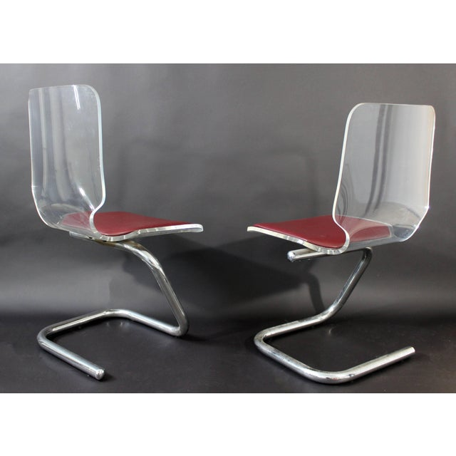 Mid-Century Modern Set of Four Lucite Dining Chairs by Luigi Bardini for Hill For Sale In Detroit - Image 6 of 10