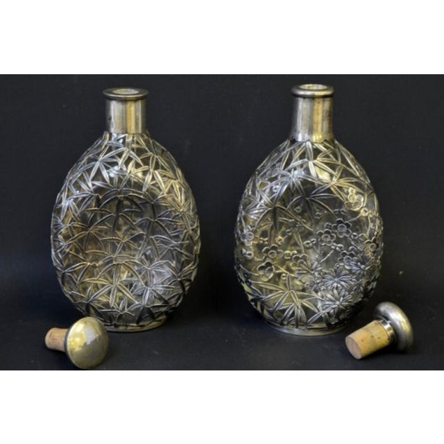Silver Overlay Pinch Decanters - A Pair - Image 3 of 7