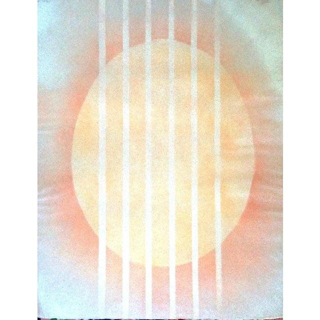 Vintage Abstract Graphic Silkscreen Judith Azur - Image 1 of 5