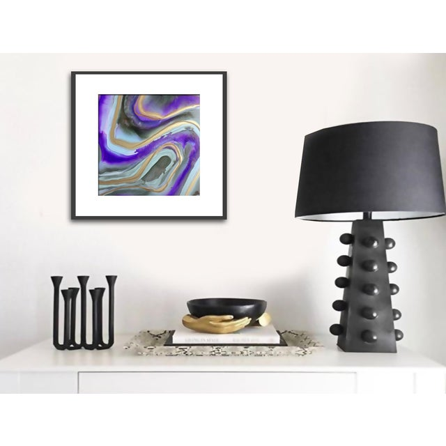 'AMETHYST' Original Abstract Painting by Linnea Heide For Sale - Image 4 of 5