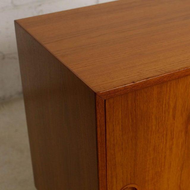Petite Danish Modern Teak Bar Cabinet - Image 6 of 10