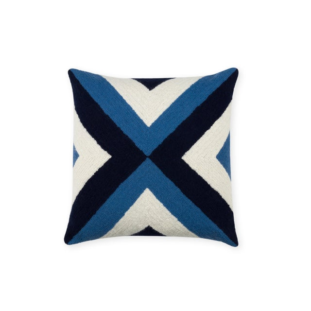 Named after the famous isle in the Stockholm Archipelago, our Grinda pillow brings a strong geometric pattern together...