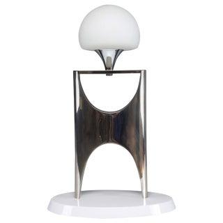 20th Century Sculptural Aluminum Table Lamp, 1950-1960 For Sale