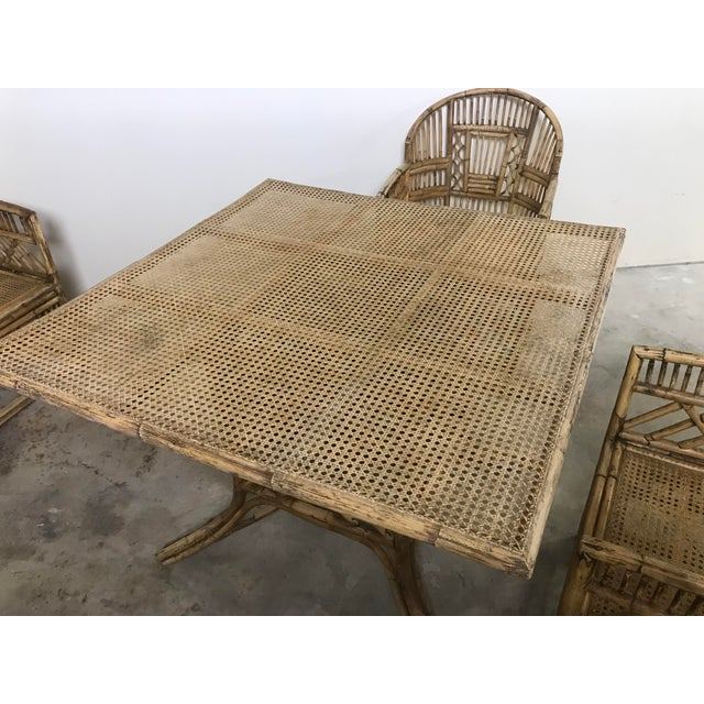 Brighton Pavilion All-Cane Table Top Dining Set - 5 Pieces For Sale In Kansas City - Image 6 of 13