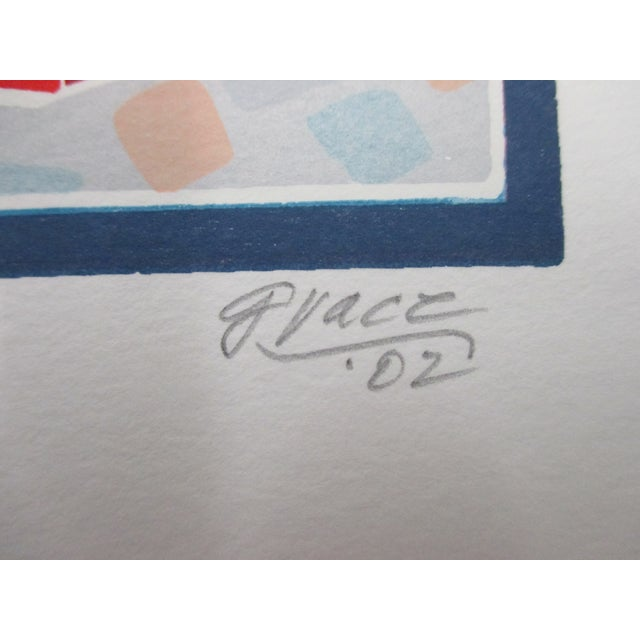Vintage Lithograph Titled: Montmartre Signed by the Artist: Grace Numbered: 117/175 Size: 9.75 x 12 x 0.03