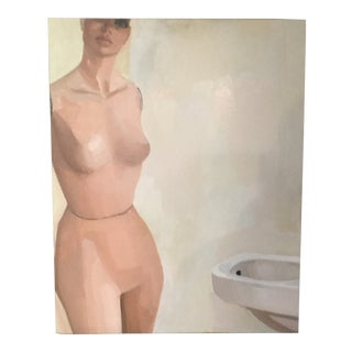 1960s Outsider Art Painting of a Mannequin For Sale