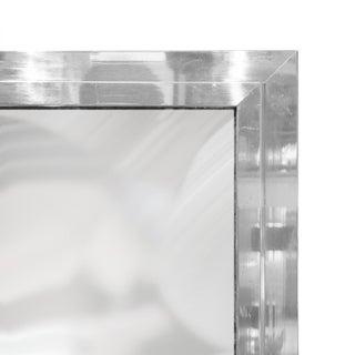 1970s French Rectangular Beveled Chrome Framed Mirror Preview