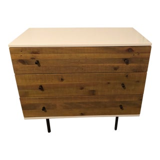 West Elm Reclaimed Wood + Lacquer Storage Desk For Sale