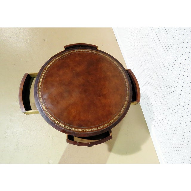 19thC English Revolving Drum Table For Sale - Image 4 of 8