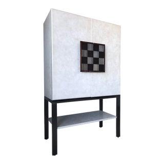 Galliano Checkerboard Cabinet For Sale