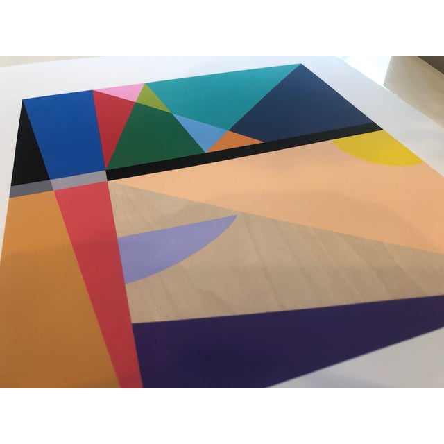 Artist: Tony Curry Modern Abstract Fine Art Print Titled: 19 Color Modern Abstract By Artist Tony Curry Thick Professional...