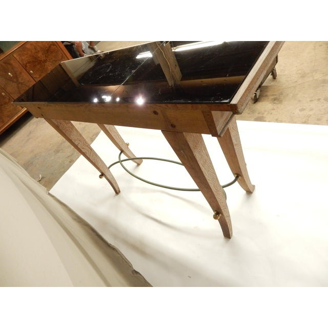 French Art Deco Cerused Oak Console For Sale In New Orleans - Image 6 of 7