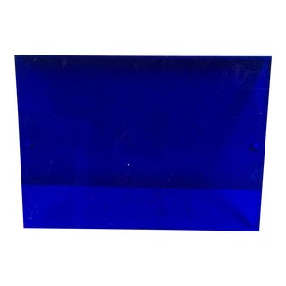 1960s Mid Century Lucite Cobalt and Clear Frame For Sale