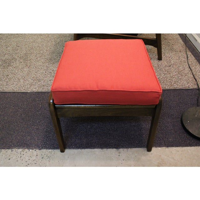 Mid-Century Modern Pearsall-Style Chair & Ottoman - Image 10 of 10
