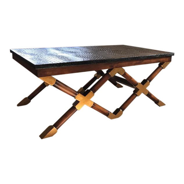 John Richard Crocodile Top Coffee Table Chairish - John richard coffee table