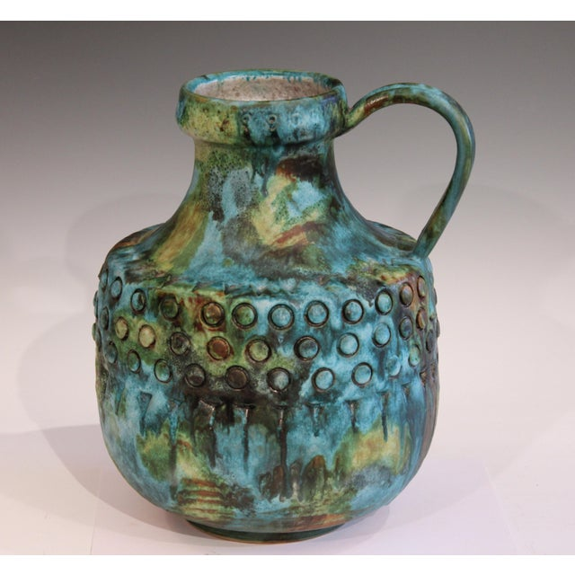 Vintage Bagni Sea Garden Italian Pottery Large Alvino Raymor Jug Pitcher Vase For Sale - Image 10 of 10