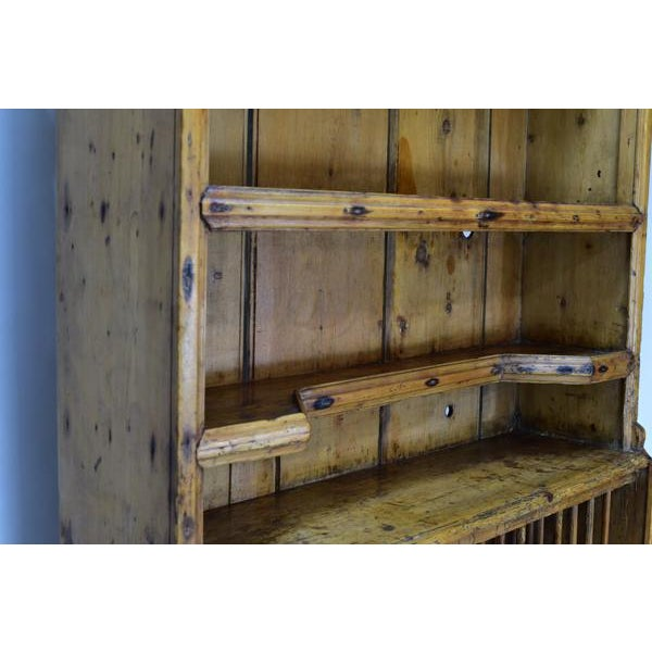 Antique Pine Irish Dresser Kitchen Cabinet - Image 3 of 11 - Antique Pine Irish Dresser Kitchen Cabinet Chairish