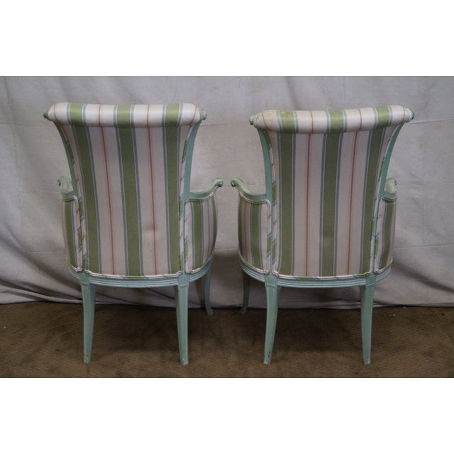 1940s Vintage Louis XV Style Fireside Bergere Host Chairs - a Pair - Image 4 of 10