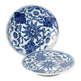 Quing Dynasty Dishes Embossed and Stamped by Artist - A Pair For Sale