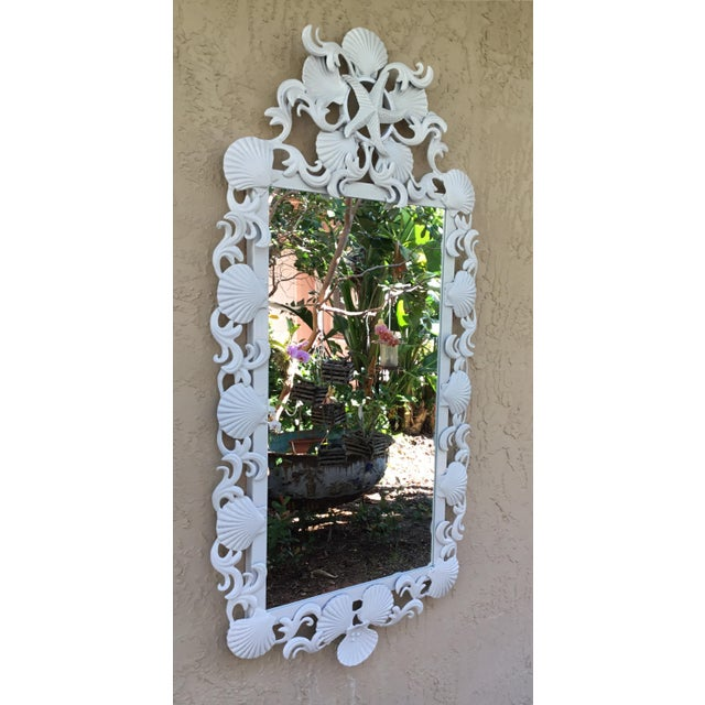 Cast Iron Seashell Iron Mirrors - a Pair For Sale - Image 7 of 13