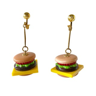 Camp Cheeseburger Statement Earrings For Sale