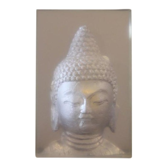 Geometric Resin Sculpture, Buddha Wall Relief - Image 1 of 4