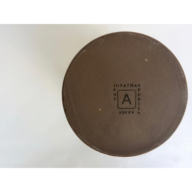 Leather Jonathan Adler Sgraffito Canister For Sale - Image 7 of 7
