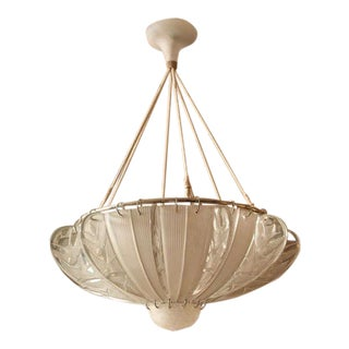 "Rene Lalique ""Hirondelles"" Chandelier For Sale"