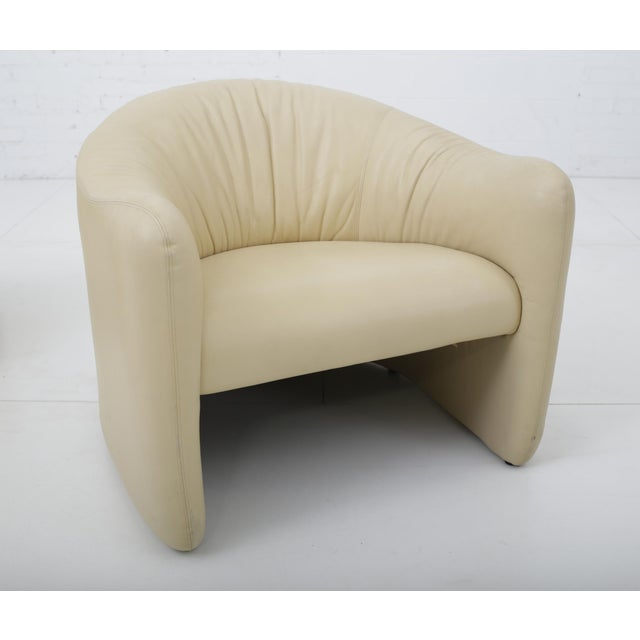 Leather Barrel Back Chairs, Metropolitan 1970's For Sale - Image 11 of 13