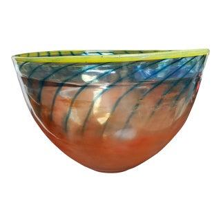 Vintage Kjell Engman Kosta Boda Flaring Glass Bowl For Sale