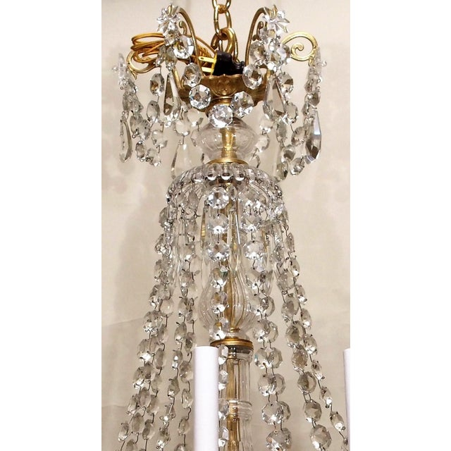 Belle Epoque Antique French Late 19th Century Baccarat Crystal and Gold Bronze 12 Light Chandelier For Sale - Image 3 of 5