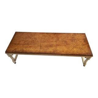 Vintage Mid-Century Modern Tomlinson Burl Maple Coffee Table For Sale