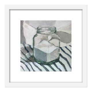 "Small ""Sugar Jar on Stripes"" Print by Caitlin Winner, 15"" X 15"" For Sale"